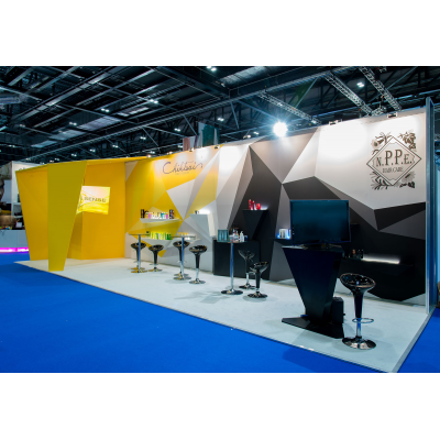 Exhibition Stand design and build from a floor show