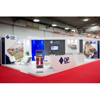 large exhibition stands at a show