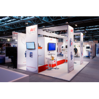 exhibition design company stand at a show