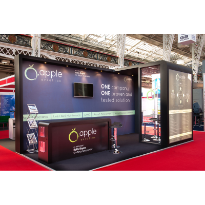 one of our exhibition stand designers for a show