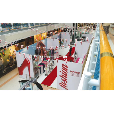 Retail exhibition stands in shopping mall
