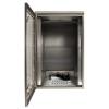 Waterproof rack mount cabinet open