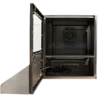 waterproof pc enclosure front view with door open