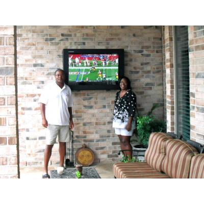 Outdoor TV enclosure from Armagard