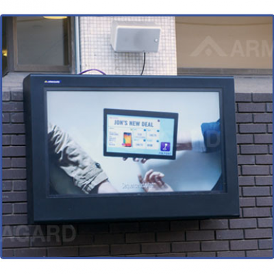 Armagard outdoor TV enclosure