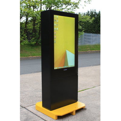 Armagard outdoor digital display left view