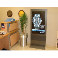 LCD digital signage in use in a jeweller's shop
