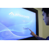 Digital signage touch screen in use