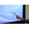 Digital signage touch screen close up