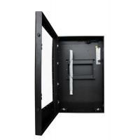 Portrait Flat Panel Enclosure front view of the enclosure with door open
