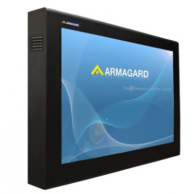 TV screen protector in situ by Armagard