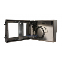 waterproof monitor enclosure view of the unit with door open