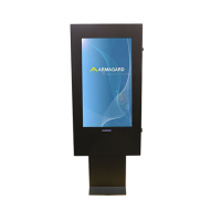 Outdoor digital signage front on view