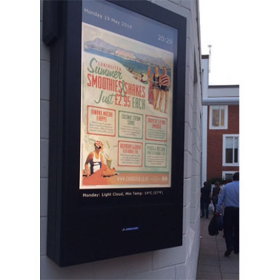 Outdoor digital menu boards for restaurant