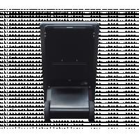 Freestanding digital A-frame signage rear view.