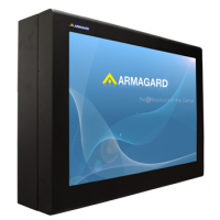 Outdoor digital signage enclosures left view