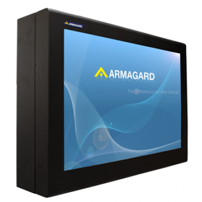 Outdoor digital signage LCD enclosure from Armagard