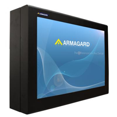 Outdoor digital signage LCD enclosure from Armagard