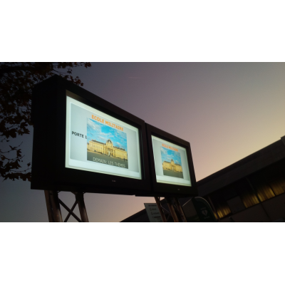 Wall mounted outdoor TV cabinets for businesses