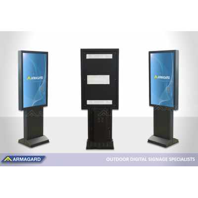 Drive thru totem for Samsung OHF screens being exhibited at ISE 2020.