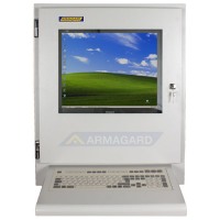 Industrial LCD monitor with Wedge Keyboard