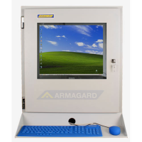 Industrial LCD monitor with Keyboard tray