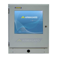 Industrial Touch Screen Enclosure front on view