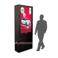 digital signage enclosure by Armagard