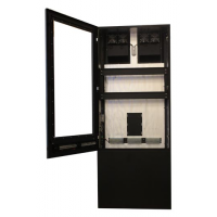Anti-glare totem digital signage with door open