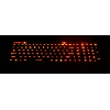Rugged Keyboard showing red back light of keys