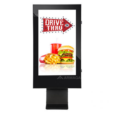 Drive Thru outdoor digital signage by Armagard