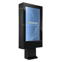drive thru digital signage enclosure from armagard