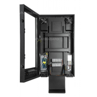drive thru digital signage enclosure with door open