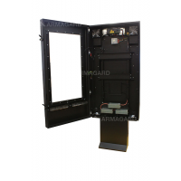 qsr outdoor digital signage enclosure with the door open
