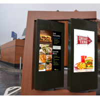 Digital drive thru menu boards in-situ