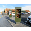 qsr outdoor digital signage enclosure in situ image 2