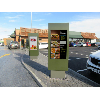 Drive Thru outdoor digital signage from Armagard