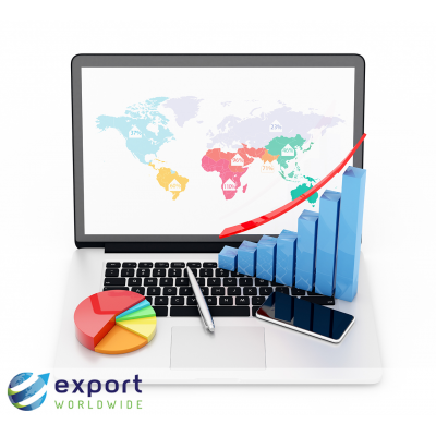 You generate lots of market data when you're selling online overseas.