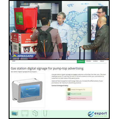 Armagard pump topper unit at ISE and on the ExportWorldwide virtual trade show.