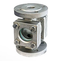 Omega valves sight glass