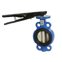 blue butterfly wafer valve
