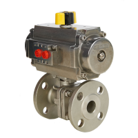 2 piece ball valve with actuator
