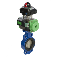 butterfly valve with actuator and switchbox