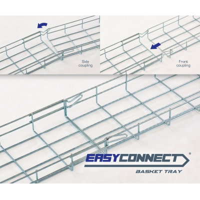 EASYCONNECT wire mesh cable tray series EC60