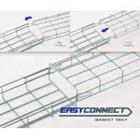 EASYCONNECT basket cable tray reversed assembling