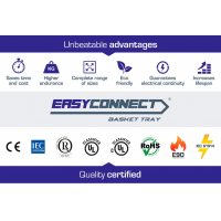 EASYCONNECT basket cable trays, unbeatable advantages certified