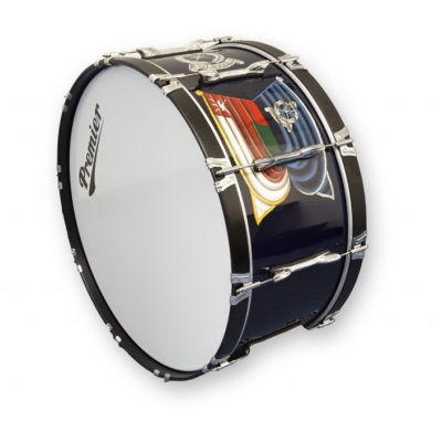 An emblazoned drum is an piece of essential military band equipment