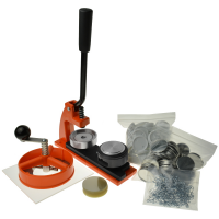 A button badge maker kit for home and professional use.