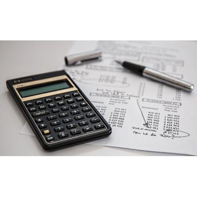 Budget setting technique: calculator and balance sheet