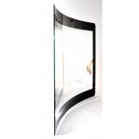 Película sensible al tacto aplicada al vidrio curvado